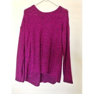 Philosophy purple knit sweater with black speckled